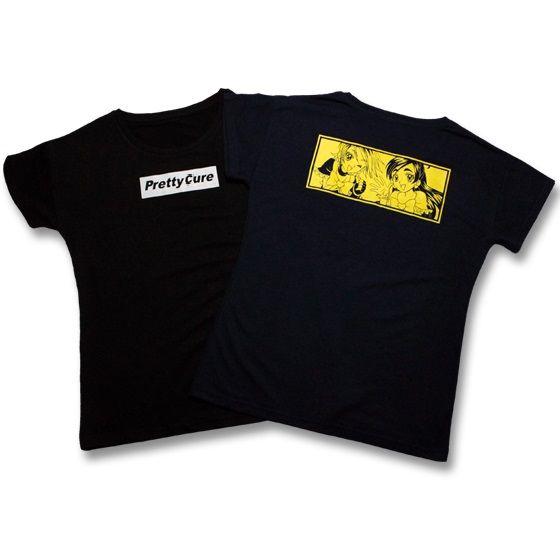 ふたりはプリキュア レディースTシャツ ロゴ柄