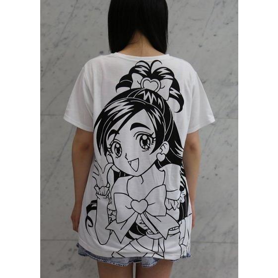 ふたりはプリキュア ビッグプリント レディースTシャツ