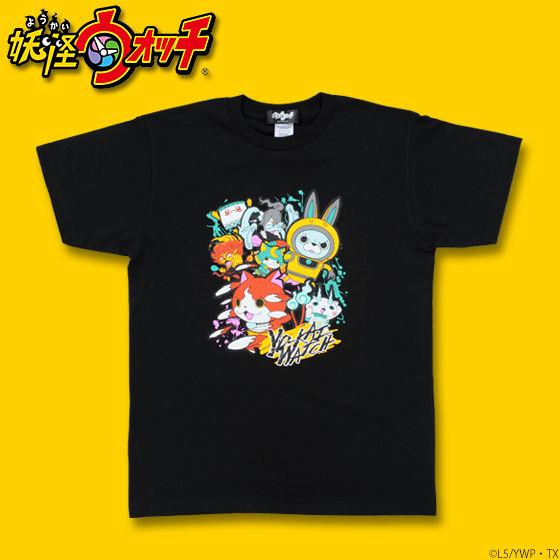 妖怪ウォッチ キャラ集合柄プリントTシャツ 大人サイズ
