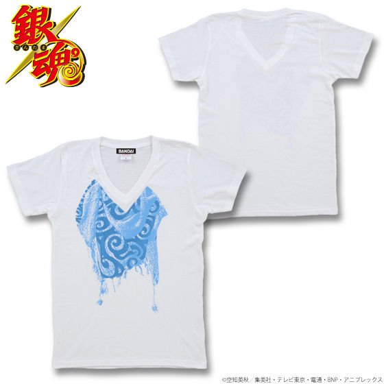 銀魂 銀時ストール柄Tシャツ 【購入特典対象商品】