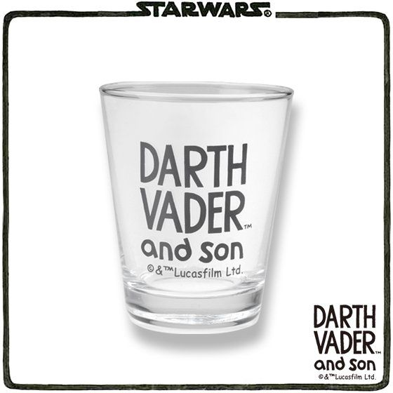 STAR WARS DARTH VADER and son グラス