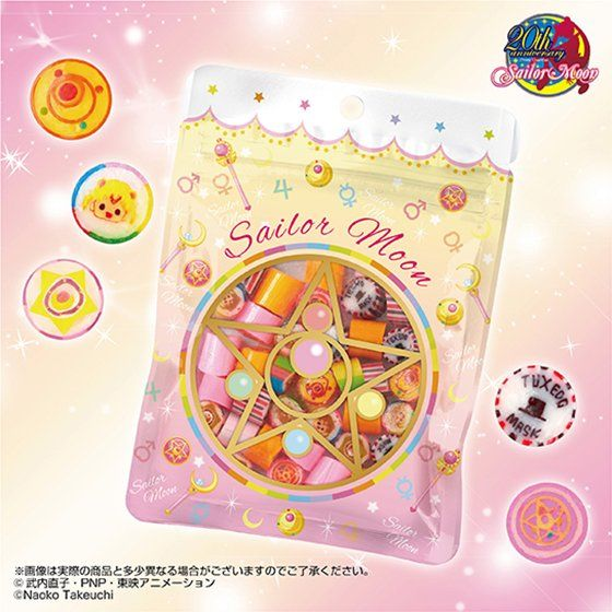 シュクレ キャラクテル SWEET MOON sailormoon candy MAKEUP MIX(5個入)