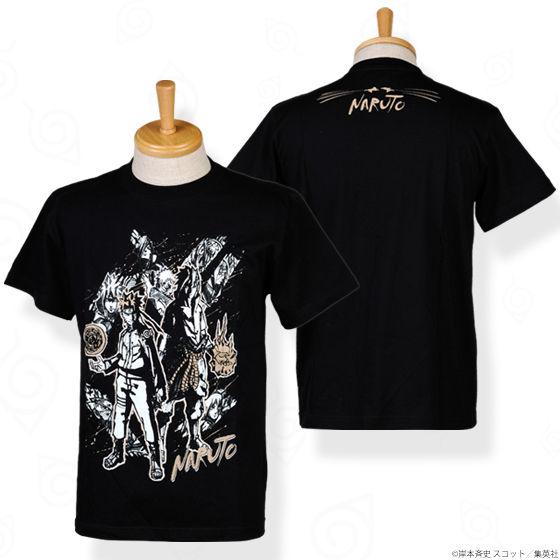 NARUTO 忍 集合ビジュアル Tシャツ 黒