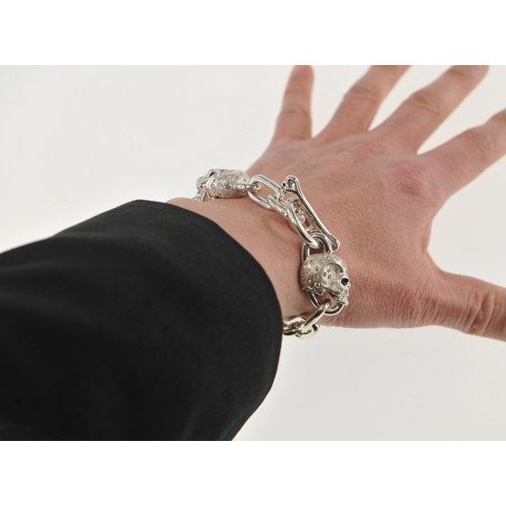 仮面ライダー鎧武 TEAM BARON(チームバロン)駆紋戒斗 x haraKIRI Collaboration Silver925 Bracelet