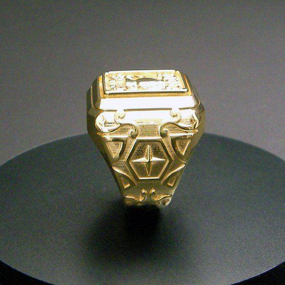 【受注生産】聖闘士星矢 黄金聖衣箱(ゴールドクロスボックス)デザインsilver925リング 水瓶座(アクエリアス)