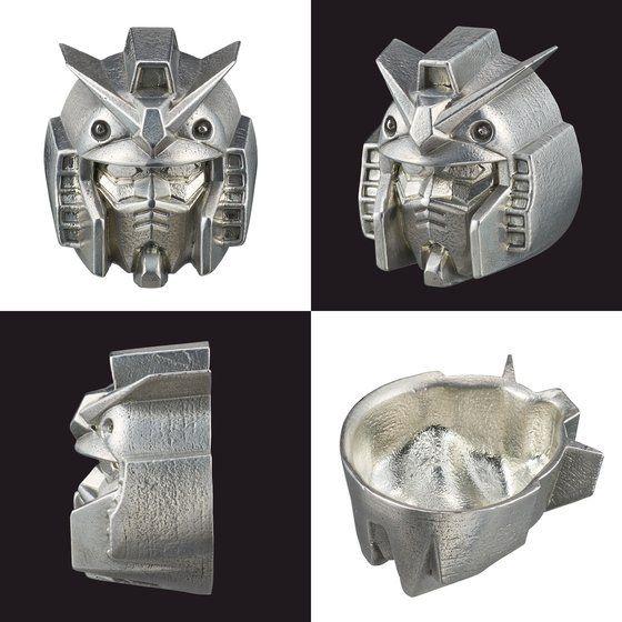 GUNDAM 錫製ぐいのみ ガンダム&シャア専用ザクセット