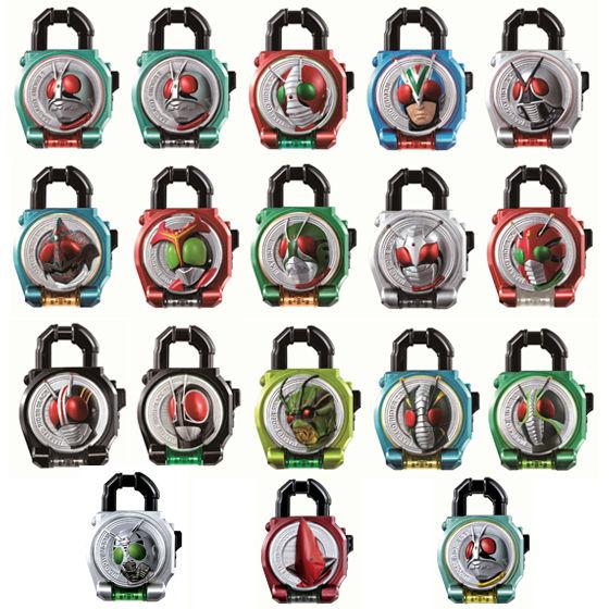 【抽選販売】サウンドロックシードシリーズ カプセルロックシード 昭和ライダー伝説セット