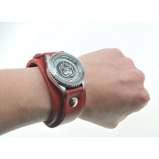 仮面ライダーアクセル × Red Monkey designs Collaboration Wristwatch Silver925 High-End Model