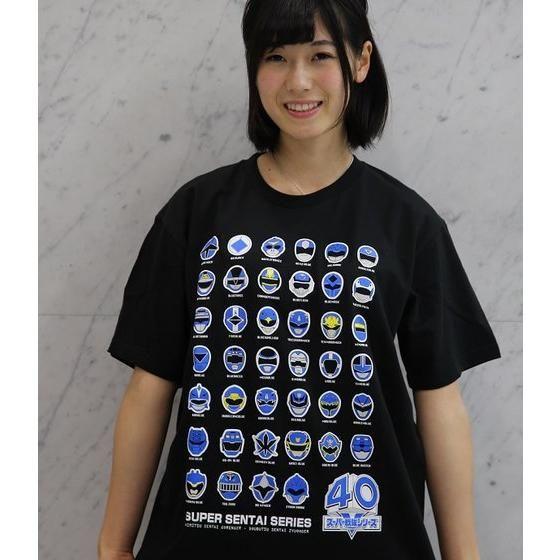 スーパー戦隊シリーズ40作品記念 歴代ブルー フェイスTシャツ