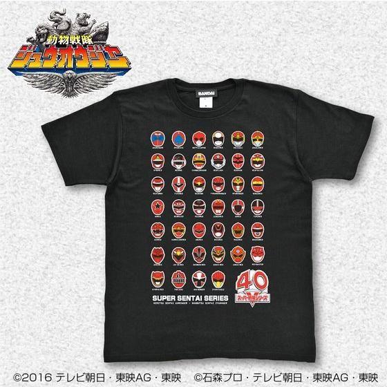 スーパー戦隊シリーズ40作品記念 歴代レッド フェイスTシャツ