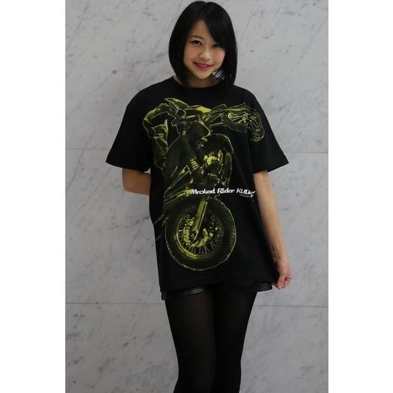 菅原芳人計画Tシャツ 仮面ライダークウガ ビッグプリント柄(ブラック)