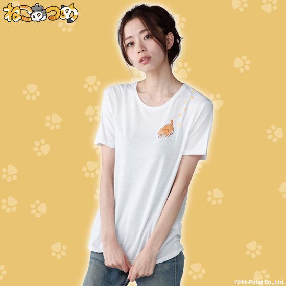 ねこあつめ 金にぼしみつけたTシャツ レディースサイズ