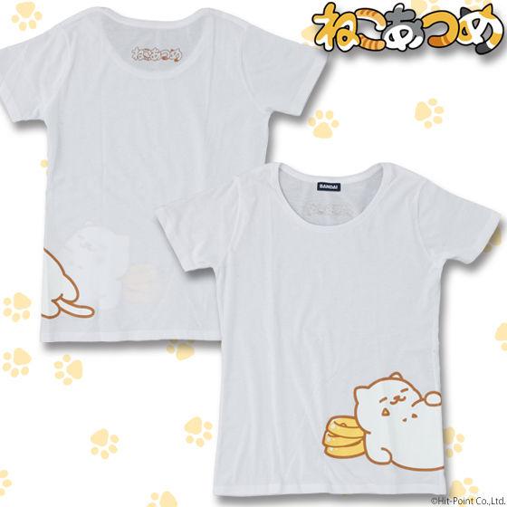 ねこあつめ まんぞくさんTシャツ レディースサイズ