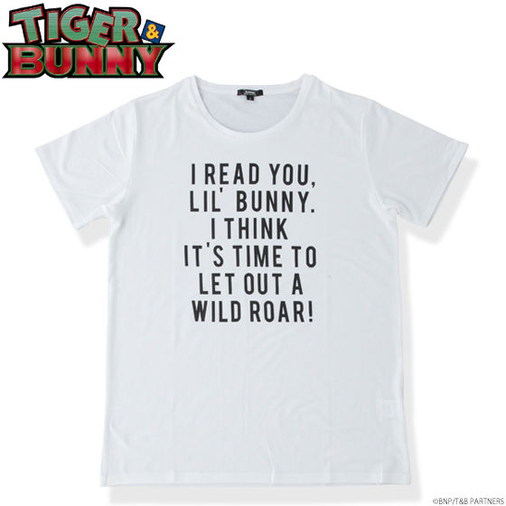 TIGER & BUNNY ロゴTシャツ 虎徹 IT'S TIME
