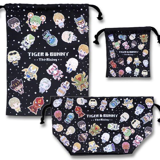 劇場版TIGER & BUNNY -The Rising- ドットビット 巾着3点セット 総柄