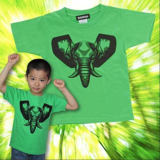 動物戦隊ジュウオウジャー 「ジュウオウエレファント」Tシャツ こども用