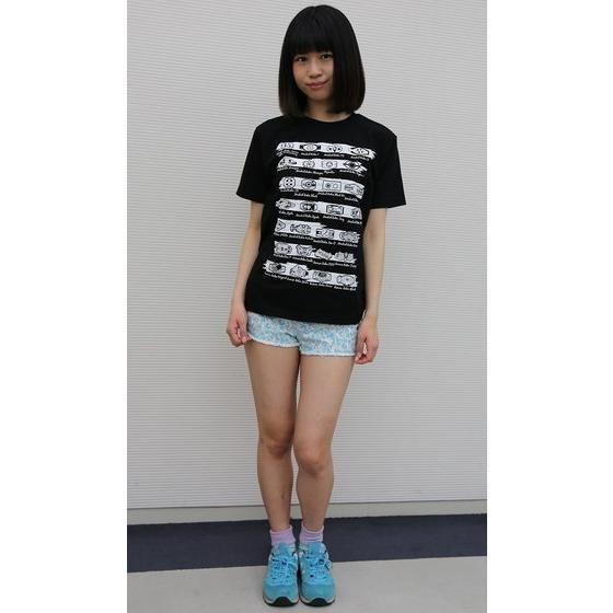 仮面ライダーシリーズ45周年記念 歴代変身ベルト柄Tシャツ(ブラック)
