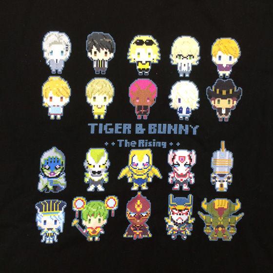 [プレミアムバンダイ限定販売]劇場版 TIGER & BUNNY The Rising ドットビット Tシャツ 全員集合柄(大人サイズ)