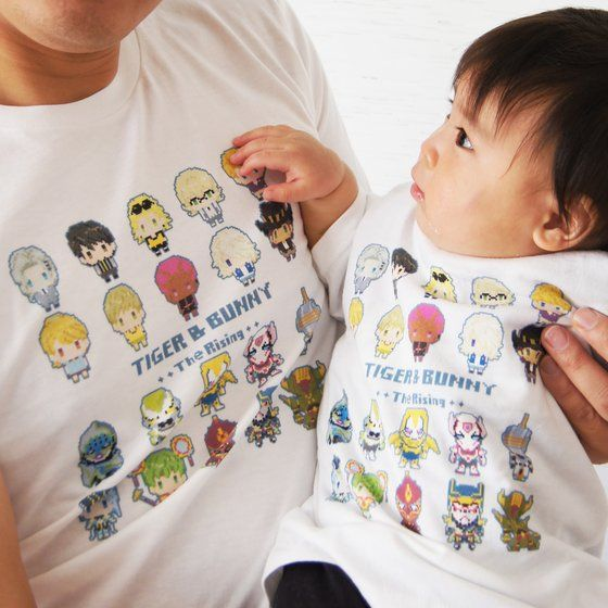 [プレミアムバンダイ限定販売]劇場版 TIGER & BUNNY The Rising ドットビット Tシャツ 全員集合柄(KIDSサイズ)