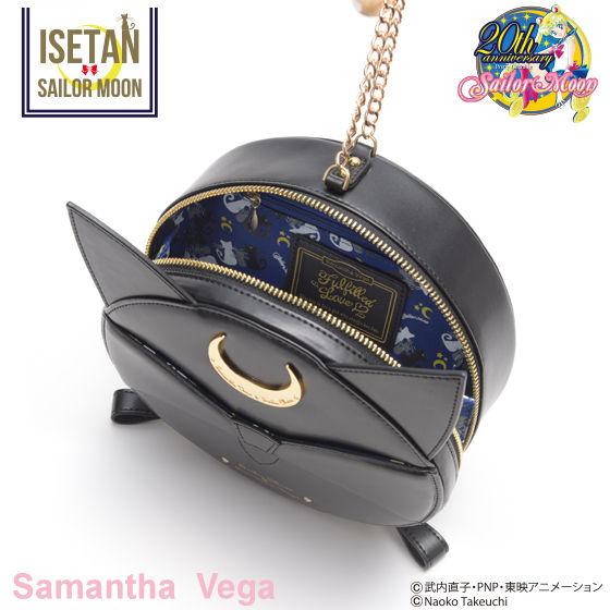 【Samantha Vegaコラボ】美少女戦士セーラームーン  ルナPボール風フェイクレザーミニチェーンバッグ