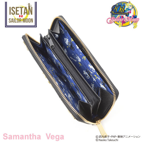【Samantha Vegaコラボ】美少女戦士セーラームーン ルナ/アルテミスレザーロングウォレット