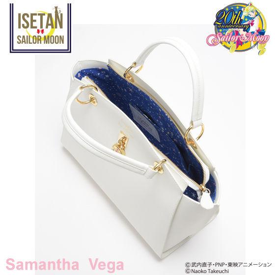 【Samantha Vegaコラボ】美少女戦士セーラームーン クリスタルスターコンパクト レザートートバッグ 大