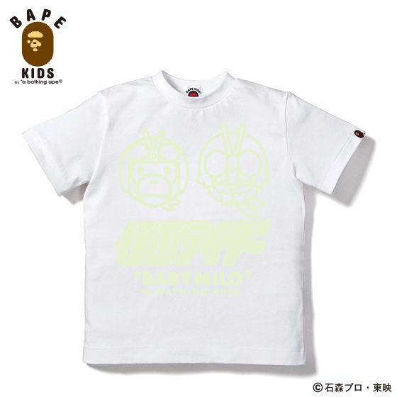 A BATHING APEコラボ 仮面ライダー Tシャツ#7 KIDS