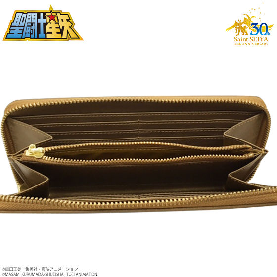 聖闘士星矢 30周年メモリアル 黄金聖衣箱(ゴールドクロスボックス)本革長財布