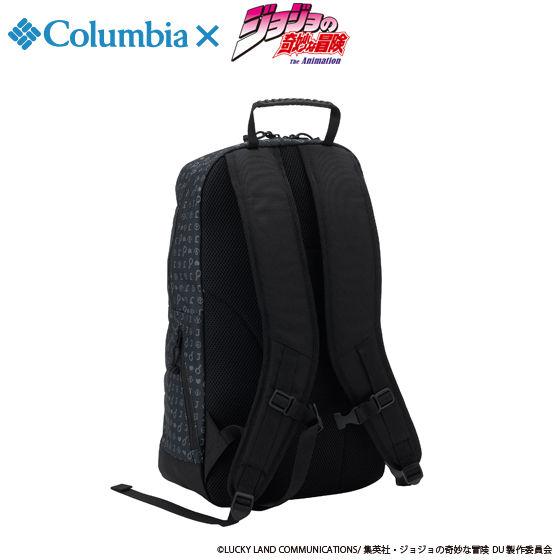 """ジョジョの奇妙な冒険×Columbiaコラボ PU3036 Third Bluff(TM) SP Backpack""""JOJO"""" #010  Black"""