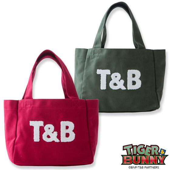 TIGER & BUNNY×kitson コラボトートバッグ(小)『T&B』 ※オリジナルバンダナ付き