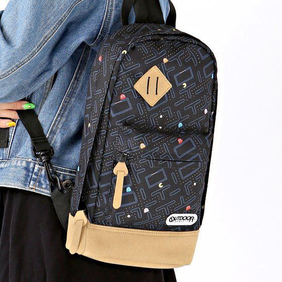 OUTDOOR PRODUCTS x PAC-MAN ボディバッグ(メイズ柄)