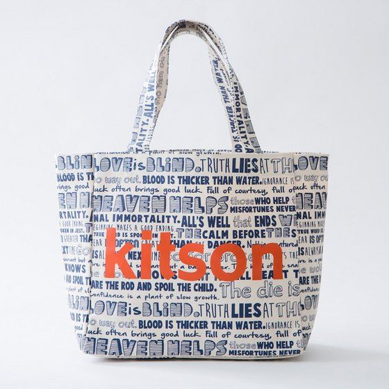 TIGER & BUNNY×kitson コラボトートバッグ(大)『各話タイトル』 ※オリジナルバンダナ付き