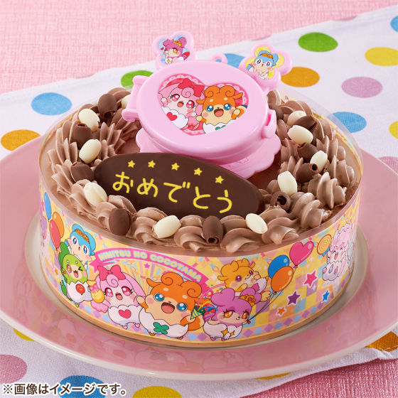 キャラデコお祝いケーキ かみさまみならい ヒミツのここたま(チョコクリーム)
