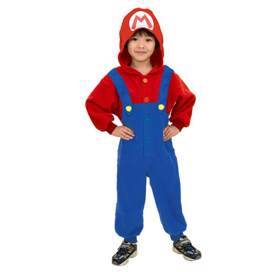 スーパーマリオ 変身着ぐるみパジャマ スーパーマリオ 子供用