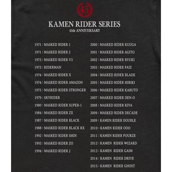 仮面ライダーシリーズ45th Tシャツ タイフーン柄 (ブラック)