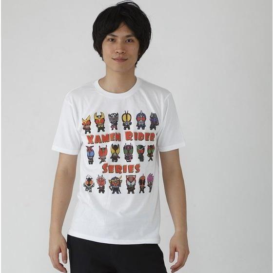 仮面ライダーシリーズ45周年記念 平成仮面ライダーシリーズ&エグゼイド デフォルメTシャツ