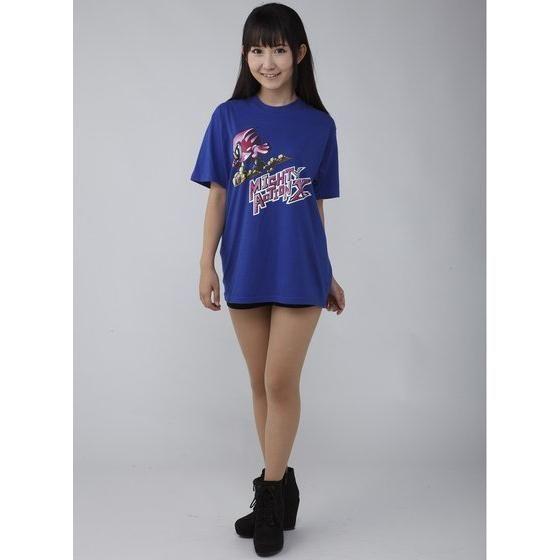 仮面ライダーエグゼイド マイティアクションX Tシャツ(ブルー/ホットピンク)
