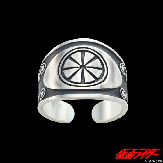 仮面ライダーシリーズ45周年記念「仮面ライダー1号」ベルトモチーフ プレートリング silver925