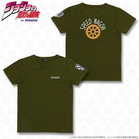 ジョジョの奇妙な冒険 スピードワゴン財団 Tシャツ カーキ