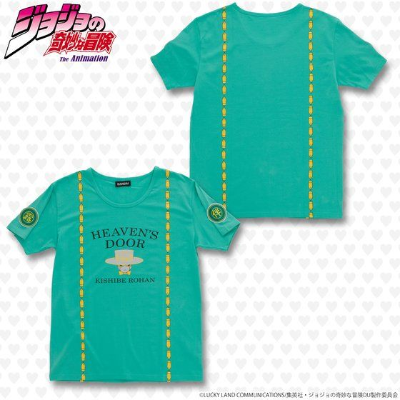 ジョジョの奇妙な冒険 ワッペンTシャツ ヘブンズ・ドアー