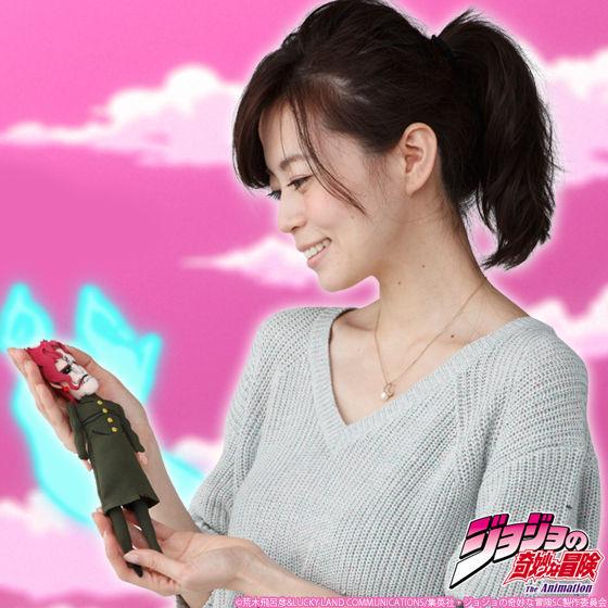ジョジョの奇妙な冒険 魂を抜かれた花京院典明人形 マスコットポーチ