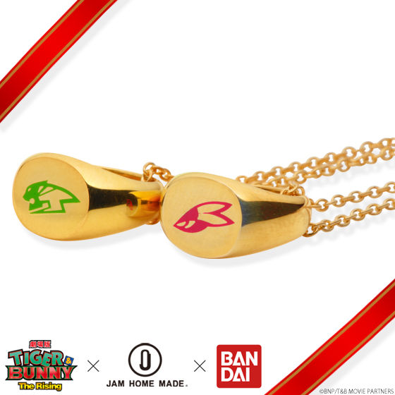 【再販】劇場版 TIGER & BUNNY -The Rising-×JAM HOME MADE ネックレス K10 YELLOW GOLD