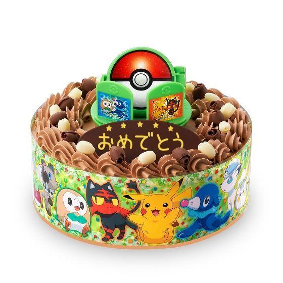 キャラデコお祝いケーキ ポケットモンスター サン&ムーン(チョコクリーム)(5号サイズ)
