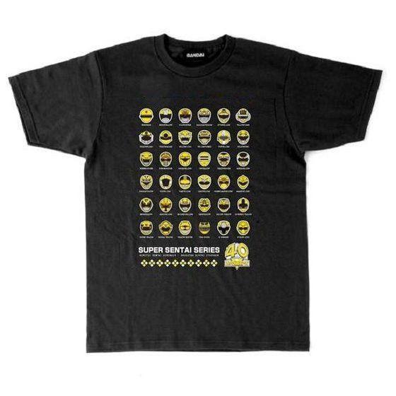 スーパー戦隊シリーズ40作品記念 歴代イエロー フェイスTシャツ 大きいサイズ(XXL・XXXL)