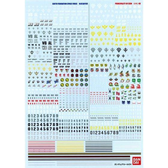 ガンダムデカールDX 01 【一年戦争系】【再販】