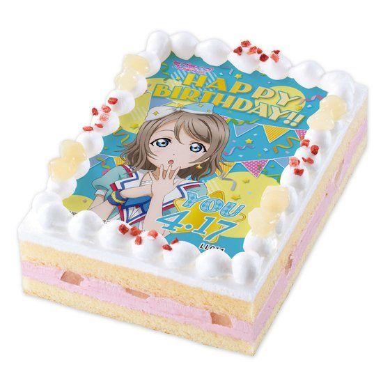 キャラデコプリントケーキ ラブライブ!サンシャイン!! 渡辺曜(誕生日ver.)