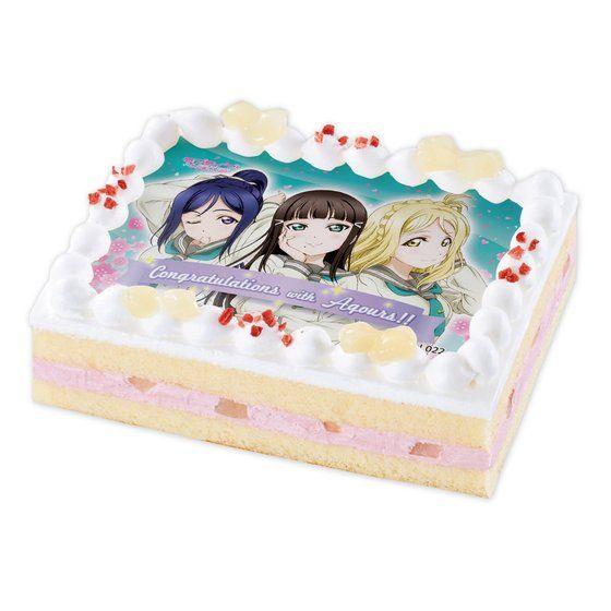 キャラデコプリントケーキ ラブライブ!サンシャイン!! 3年生 (果南&ダイヤ&鞠莉)
