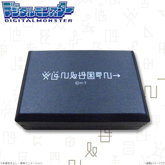 デジタルモンスター デジ文字柄本革名刺ケース