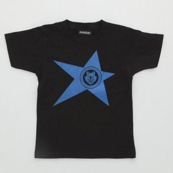 宇宙戦隊キュウレンジャー 「オオカミブルー」なりきり風デザインTシャツ こども用