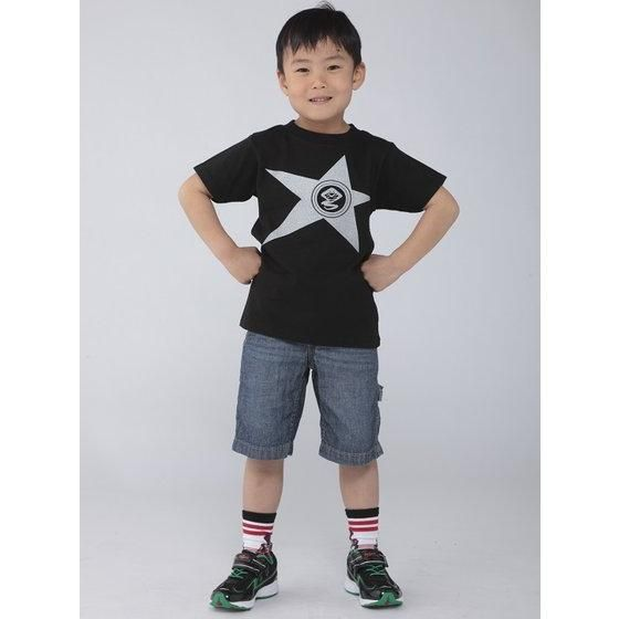 宇宙戦隊キュウレンジャー 「ヘビツカイシルバー」なりきり風デザインTシャツ こども用